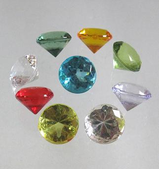 Deko Diamanten Groß.Acryl Brillanten Geschliffen Ca 19 Mm Buntmix 250 Gr Sparpack