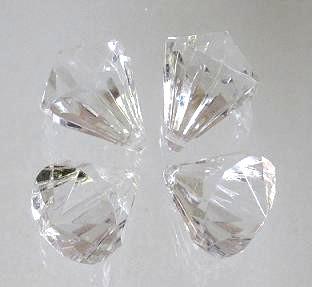 Deko Diamanten Groß.Acryl Diamanten Geschliffen Mit Loch Mittel Klar 10 Stck