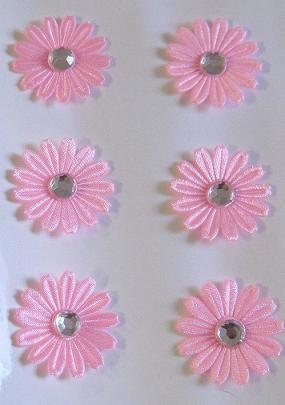 Restposten 3 D Stoffsticker Blüten Mit Strass Altrosa