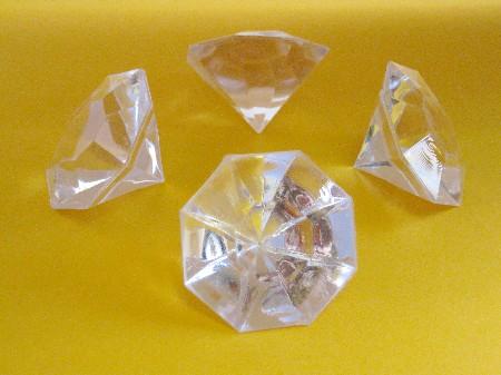 Deko Diamanten Groß.Geschenkbox Acryldiamanten Geschliffen Gross Klar 160 Gr