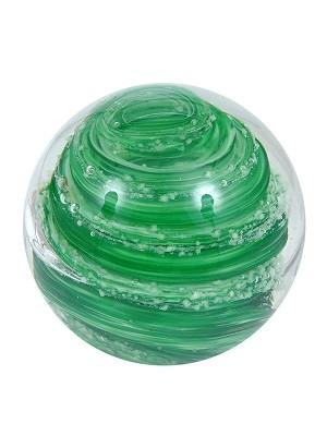 Briefbeschwerer Paperweight 7 Cm Grune Spirale Glaskugeln Deko Mit
