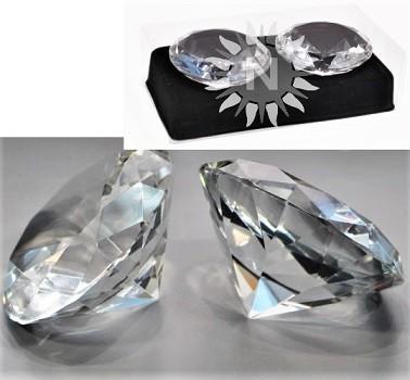 Deko Diamanten Groß.Deko Glasdiamant Kristall 2 Er Set In Schmuckbox Klar Ca 45 Mm Dm
