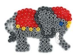 Stiftplatte Motiv Kleiner Elefant Fur Midiperlen Bugelperlen