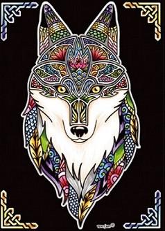 Ausmalbilder Zeichnungen Aus Samt Rsm Jäger Mandala Wolf Bilder