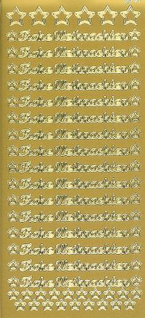 Frohe Weihnachten Gold.Sticker