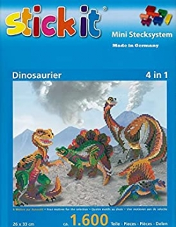 Mini Stecksystem Dinosaurier, 4 in 1